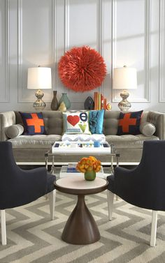 living room with pops of colour (home, decor, interor design, pillows)