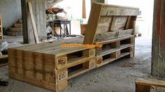 Απλές κατασκευές από παλέτες / Simple Pallet Construction: My best Sofa pallet