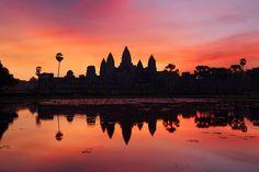 Resultado de imagen de angkor wat sunset
