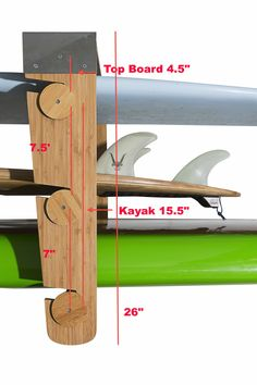 The Roll-Rack... Storage rack that allows your to easily roll your boards on or off. #kayaks