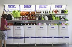Helppo täyttää ja pitää puhtaana - Plastexin hyllykokonaisuus! Made in Finland