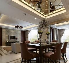 modern dining room http://www.pouted.com/37-breathtaking-awesome-dining-room-design-ideas-2015/