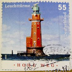 stamp Germany 55c cent € 0.55 lighthouse image pic postage Hohe Weg timbre phare allemangne Марки selo alemanha