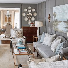 A Georgia Designer's Classic Southern Interiors – Blue and White Home Classic Home Decor, Classic House, Maggie Griffin, Ballard Designs, White Houses, Room Chairs, Decor Styles, Living Rooms, Living Spaces