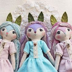 Sharing with you my latest pastel folky girls  by @filomeluna