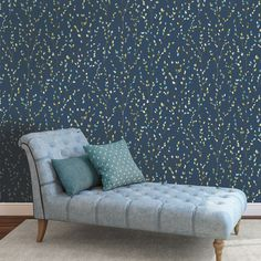 Willow Navy Lime Teal Wallpaper