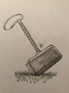 Thor's Hammer Mjolnir Drawing