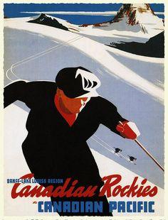 Esquiar en la Rocallosas canadienses.