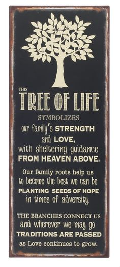 Tree of Life Sign