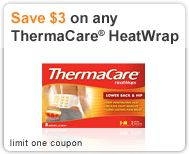 ThermaCare pads really work. They are awesome.  You can buy different ones for neck, abdominal, and other kinds of aches.  And you can get a discount coupon on their website right now.