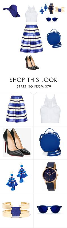 """""""blue style"""" by kaitis ❤ liked on Polyvore featuring Paul & Joe Sister, Christian Louboutin, Nico Giani, Kate Spade, DKNY and Isabel Marant"""