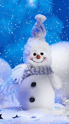 weihnachten schnee Merry Christmas to All My Folloers Christmas Scenes, Christmas Images, Christmas Snowman, Winter Christmas, Vintage Christmas, Christmas Holidays, Christmas Crafts, Christmas Decorations, Animated Christmas Pictures