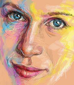 "#drawing of ""Sharon"" by Bayani de Leon"
