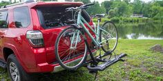 After researching 165 bike racks and testing this is the tray-style hitch rack we recommend. We also have recommendations for vehicles without a hitch. Best Bike Rack, Car Bike Rack, Car Racks, Bicycle Rack, Bike Hitch, Hitch Rack, Buy Bike, Bike Run, Bike Cargo Trailer
