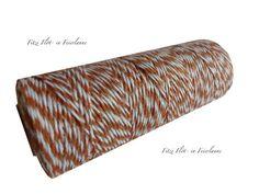 Verpackungsmaterial - Bunte Garnrolle braun - ein Designerstück von Fitzi-Floet bei DaWanda