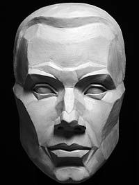 Planes of the Face Mask: Discussed in book Portrait Sculpting by Philippe Faraut http://philippefaraut.com/collections/art-reference-casts/products/planes-of-the-face