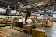 Theatrical Grocery Markets - Woolworths Food Embraces a Design That Shows Behind the Scenes Action (GALLERY) -effort to healthier eating -marketing healthy food Woolworths Food, Supermarket Design, Supermarket Sweep, Restaurants, Food Kiosk, Food Retail, Retail Merchandising, Menu, Shop Interiors