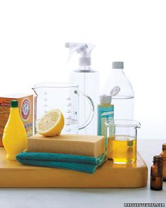 How to clean your home without harsh chemicals.