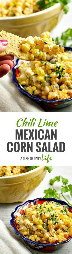 칠리 라임 멕시칸 콘 샐러드