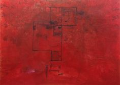 Guillermo Kuitca (Argentinian, b. 1961), Red Plan, 1989, Acrylic on canvas, 150 x 200 cm.
