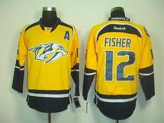 http://www.xjersey.com/predators-12-fisher-yellow-a-patch-jerseys.html Only$46.00 PREDATORS 12 FISHER YELLOW A PATCH JERSEYS #Free #Shipping!