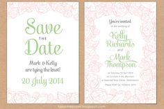 Bed of Roses Wedding Stationery Set (mini) by Happiness is... on hellopretty.co.za