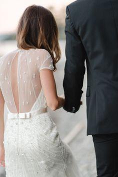 Wedding Gown - Jenny Packham -  Photography: RebeccaHollis.com -- Wedding on #SMP here: http://www.StyleMePretty.com/northwest-weddings/2014/03/14/classic-flathead-lake-montana-wedding