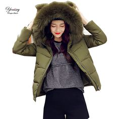 The 2017 new women's cotton padded winter cotton slim hooded cotton feather female pin factory 8683 Free Shipping Brand Name:Yenisey  #woman_clothes#Winter_clothes#Parkas #Style #fashion #popular #beautifulr #Brand Name:Yenisey