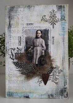 Viola - collage on wood