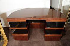 Stunning Streamline Art Deco Desk Designed by Donald Deskey | From a unique collection of antique and modern desks at http://www.1stdibs.com/furniture/storage-case-pieces/desks/
