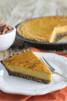 This isn't your average Pumpkin Pie: the crust is made with Medjool Dates! Check out the recipe.