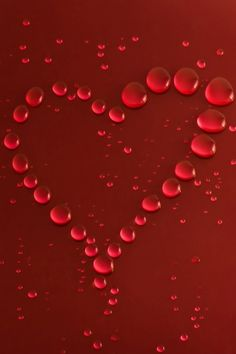 *Red. Dew Drop Heart