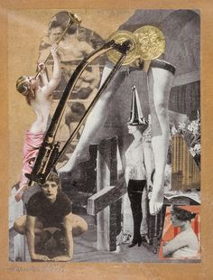 Artwork by Hannah Höch, Dada-Ernst, Made of Collage on paper Dada Collage, Collage Artists, Hana, Hannah Hoch Collage, Max Ernst Paintings, Collages, Dada Artists, Surrealist Collage, Francis Picabia