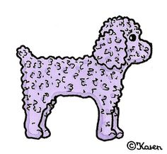 Karen`s Paper Dolls: Dogs Cut-outs to Print in Colours. Hunde klippeark til at printe i farver.