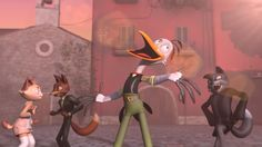 L'Americano Returns. A lively stork returns to his hometown to spread the joy of song! But after an unfortunate tangle with the law, it's up to the townsfolk to band together and bring music back into their lives in this animated short by Ricky Renna.