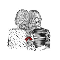 amistad es odiar las mismas cosas.  friendship is to hate the same things. Sara Herranz illustration #saraherranz #saraherranzillustration #illustration