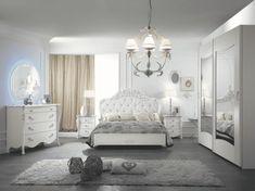 camera da letto viola bianca mobilpiù stile romantico Home Building Design, Building A House, Exterior, Outdoor Rooms
