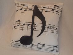 A cute music pillow to decorate your home.