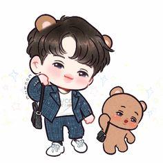 หมีนะเธอ🐻rest (@kumanater) | Twitter Baekhyun Fanart, Chanbaek Fanart, Kpop Fanart, Chanyeol, Kaisoo, Kpop Drawings, Cute Drawings, Exo Cartoon, Kai Arts