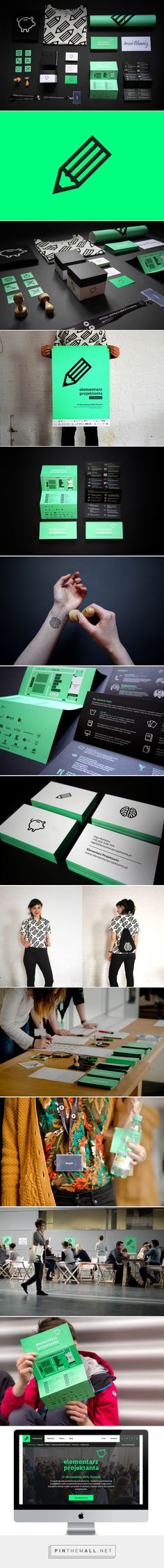 ID for the conference Elementarz Projektanta 2015 on Behance - created via http://pinthemall.net