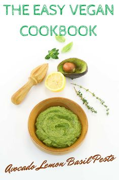 Easy Avocado Lemon Basil Pesto from The Easy Vegan Cookbook - it's the quickest weeknight dinner you'll ever make!