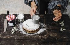 Tarta de trigo sarraceno y mermelada