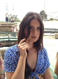 HQ Version: Lana Del Rey on the set of 'Tropico' short film in Chatsworth, California. 30 Jun, 2013.