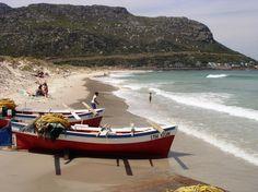 Fishing boats on Fish Hoek Beach, Cape Town