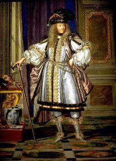 Louis XIV en habit de mascarade; gouache de J. Werner (?), 1663.