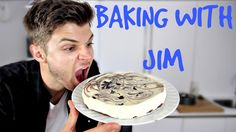 #BAKINGWITHJIM CHEESECAKE! Double Chocolate Cheesecake, Jim Chapman, I Want To Eat, White Chocolate, Love Food, Dinner, Baking, Bakken, Backen