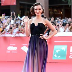 Lily Collins Elie Saab Dress at 2014 Rome Film Festival | POPSUGAR Fashion