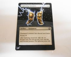 MTG Altered Painted Lightning Greaves Phyrexia vs Coalition