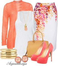 """""""Spring Work Outfit"""" by arjanadesign ❤ liked on Polyvore"""