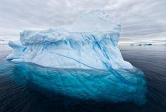 Antarctica Icebergs Underwater | Iceberg with large underwater part visible, Brown Bluff, Antarctica ...